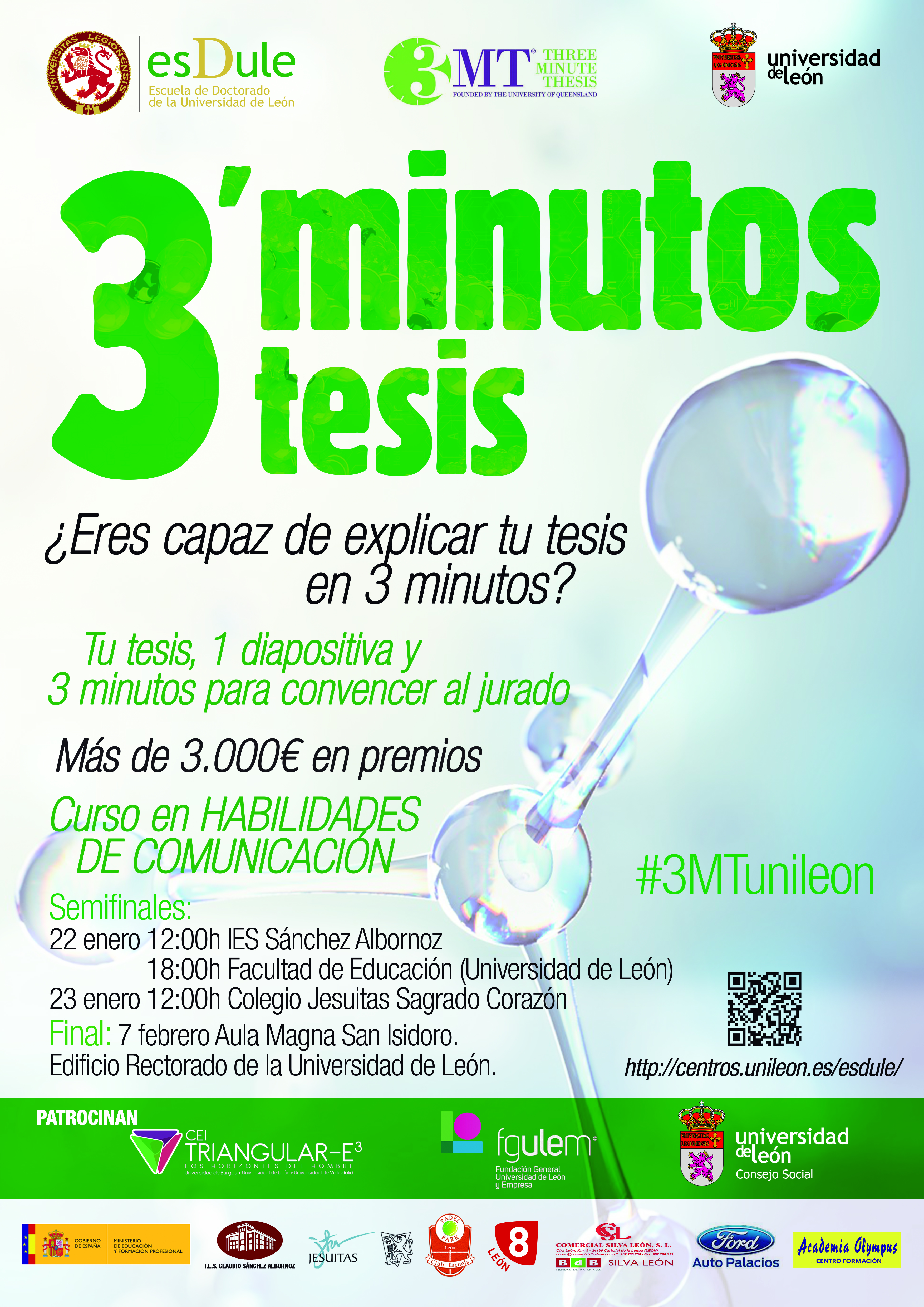 Concurso Three Minute Thesis (3MT®)- CEI Triangular-E3